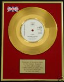 "FREDDIE MERCURY (Queen) 24 Carat Gold 7"" Disc -I WAS BORN TO LOVE YOU"